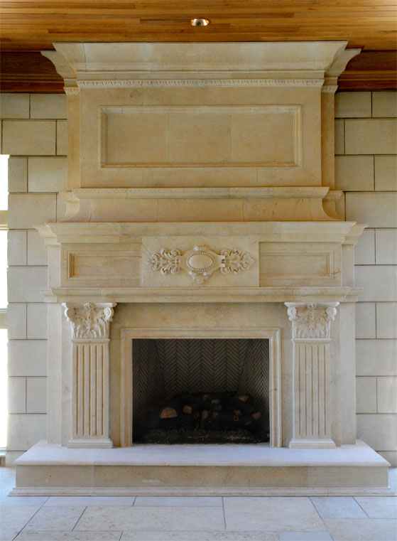 these mantels are custom designs from DMS Studios Ltd.