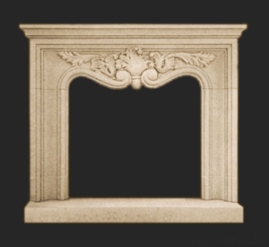 Louis XIV fireplace mantel