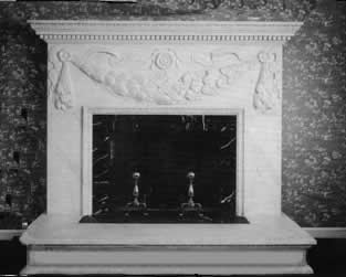 flower leaf fireplace mantel