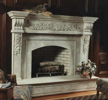 friut frieze fireplace mantel