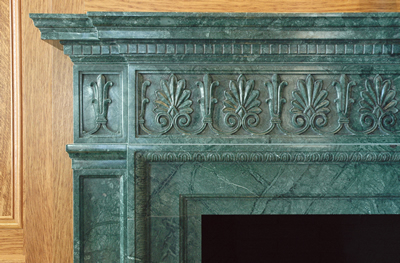 antique marble fireplace mantels. The  Verde Antique Italian Marble Fireplace Mantel