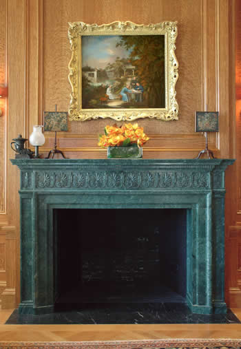 italian verde fireplace mantel - Antique Fireplace Mantels