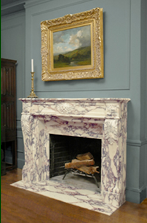 calacatta fireplace